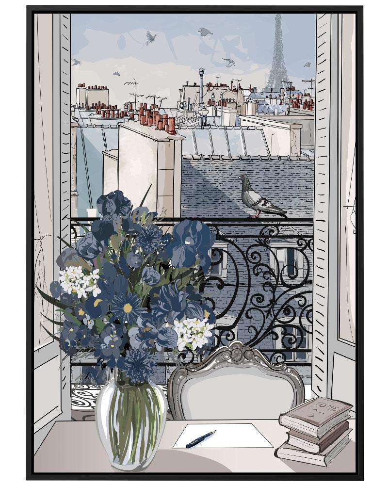 Quadro Paris Ilustrada