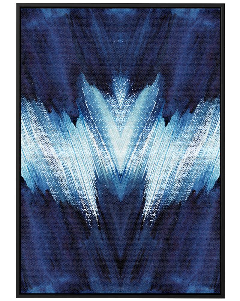 Quadro Pincelada Azul