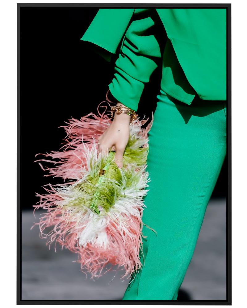 Quadro Pink Green