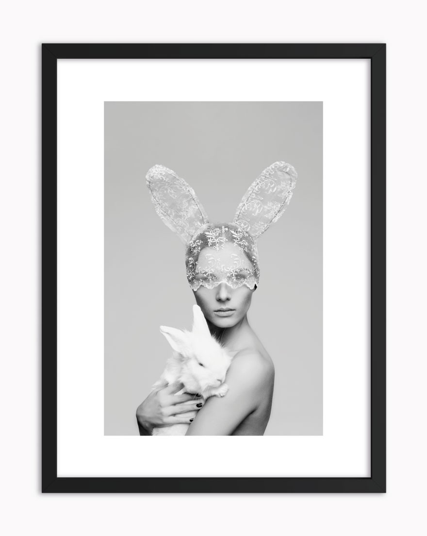 Quadro Rabbit Woman