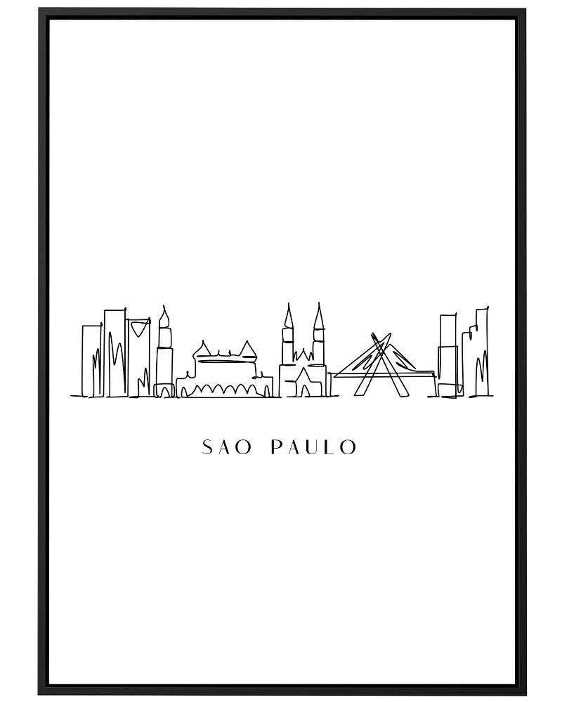 Quadro São Paulo Line
