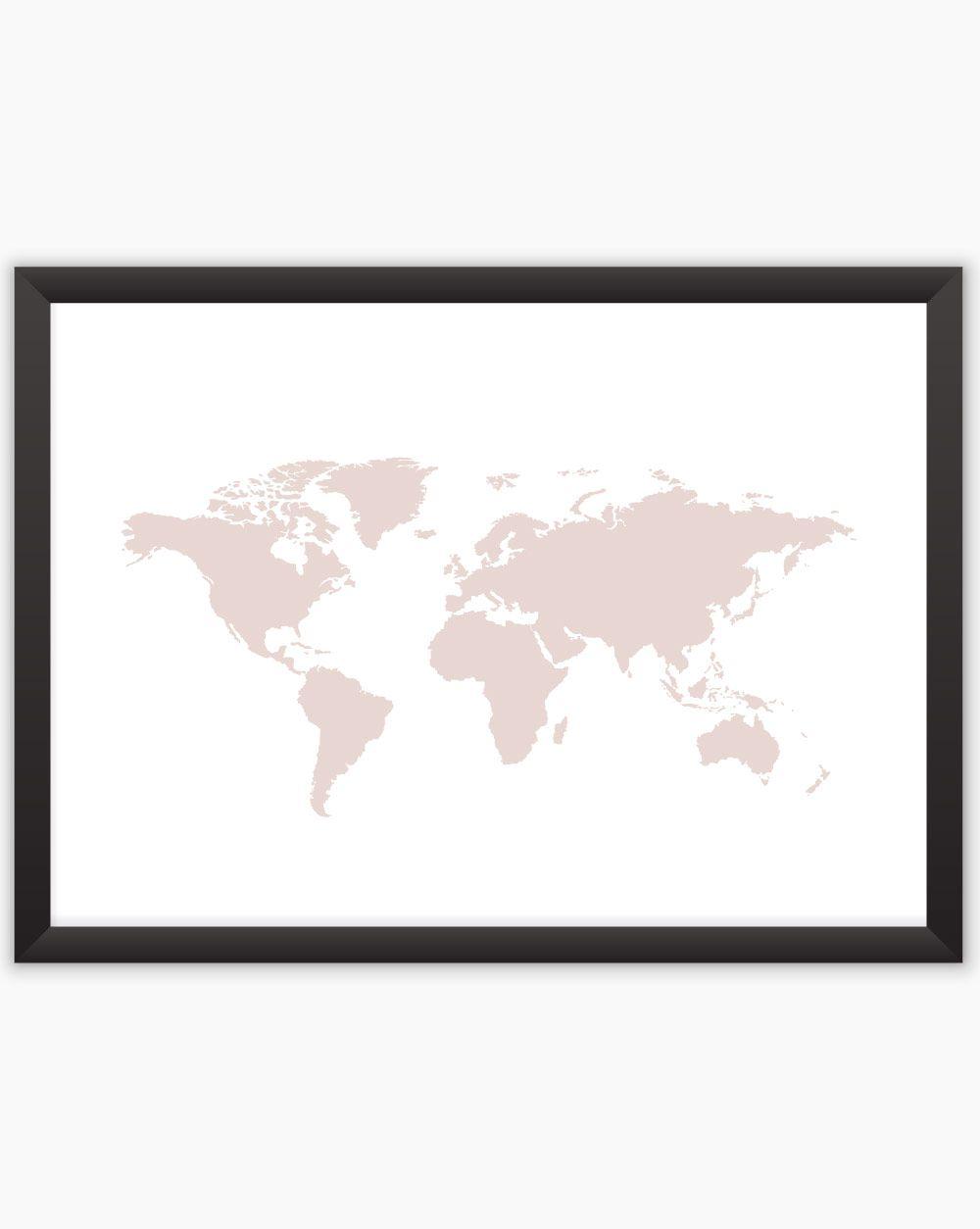 Quadro Mapa Blush (HORIZONTAL)