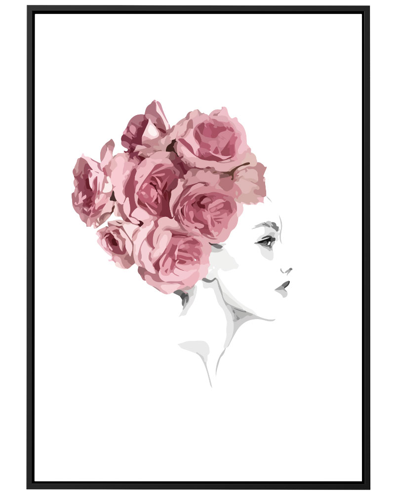Quadro Turbante de Flores