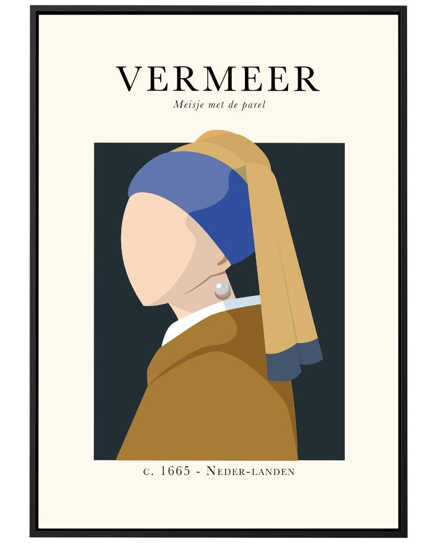 Quadro Vermeer Moça com Brinco de Pérola