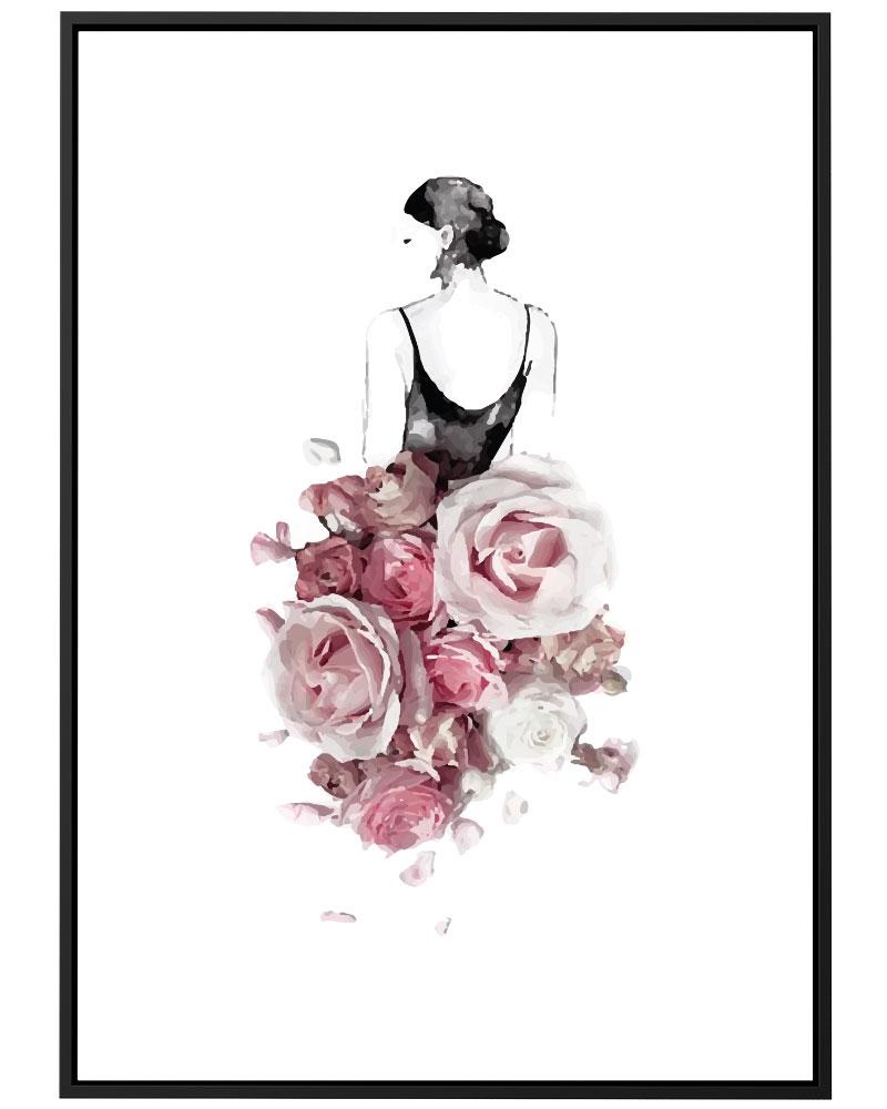Quadro Vestida de Flores