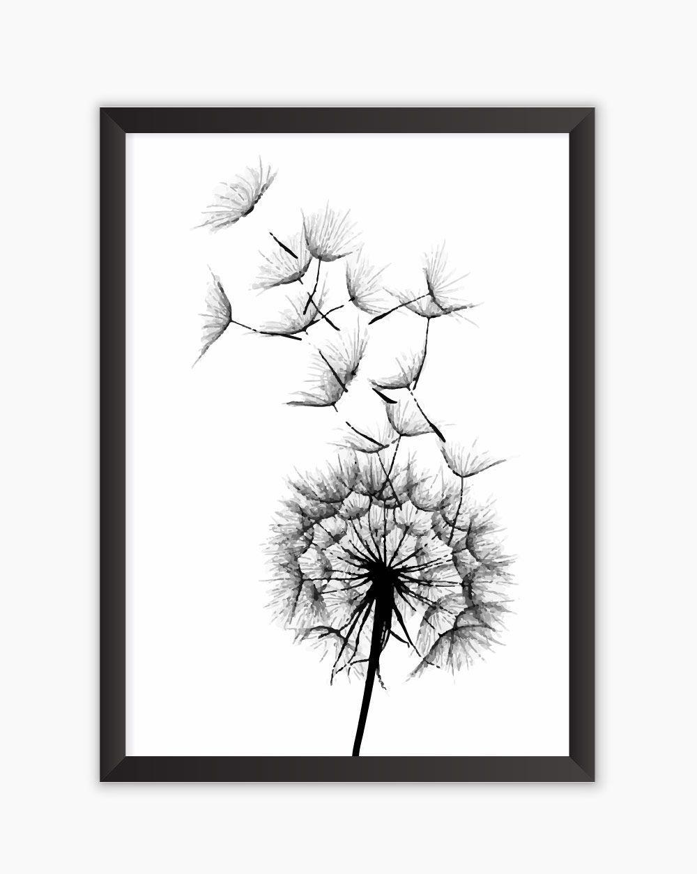 Quadro Wish Flower Watercolor