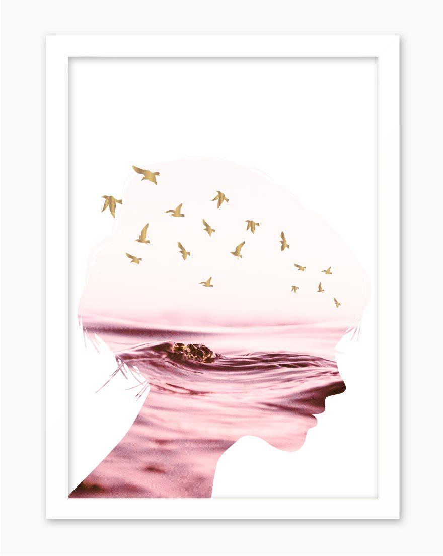 Quadro Woman Sea Pink