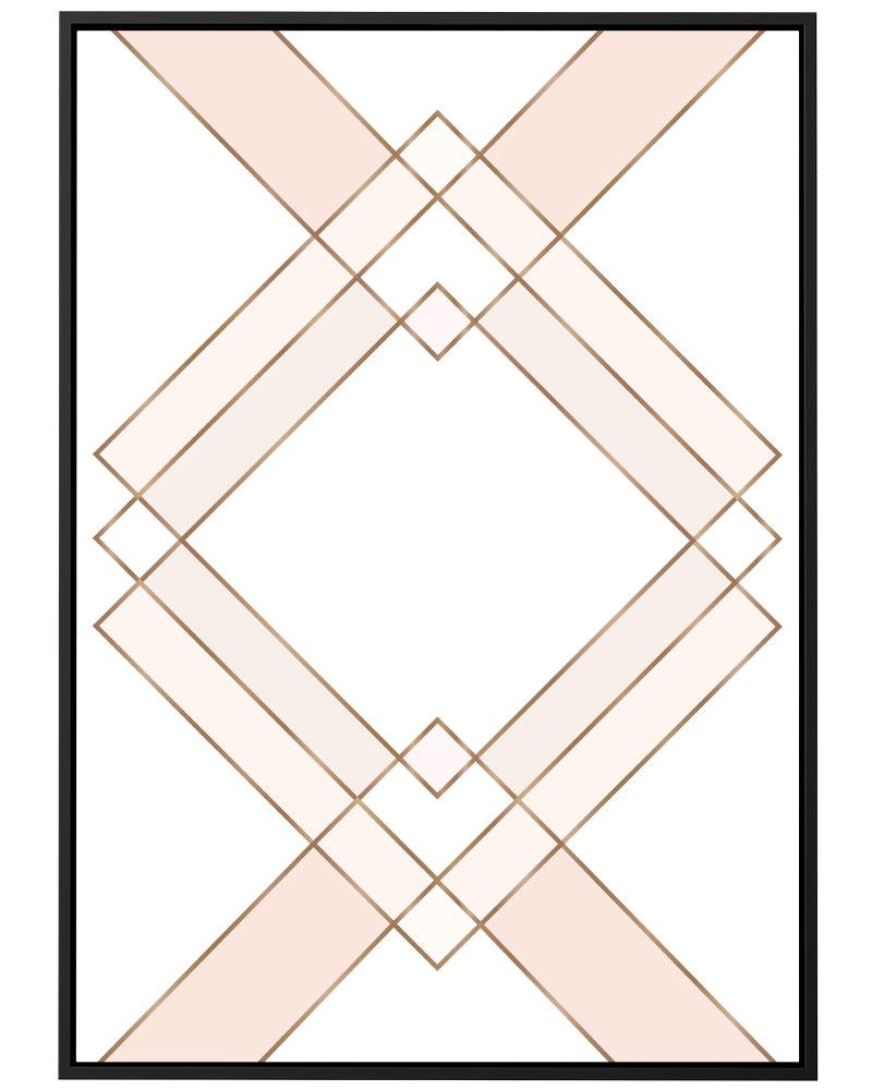 Quadro Xadrez Rosé