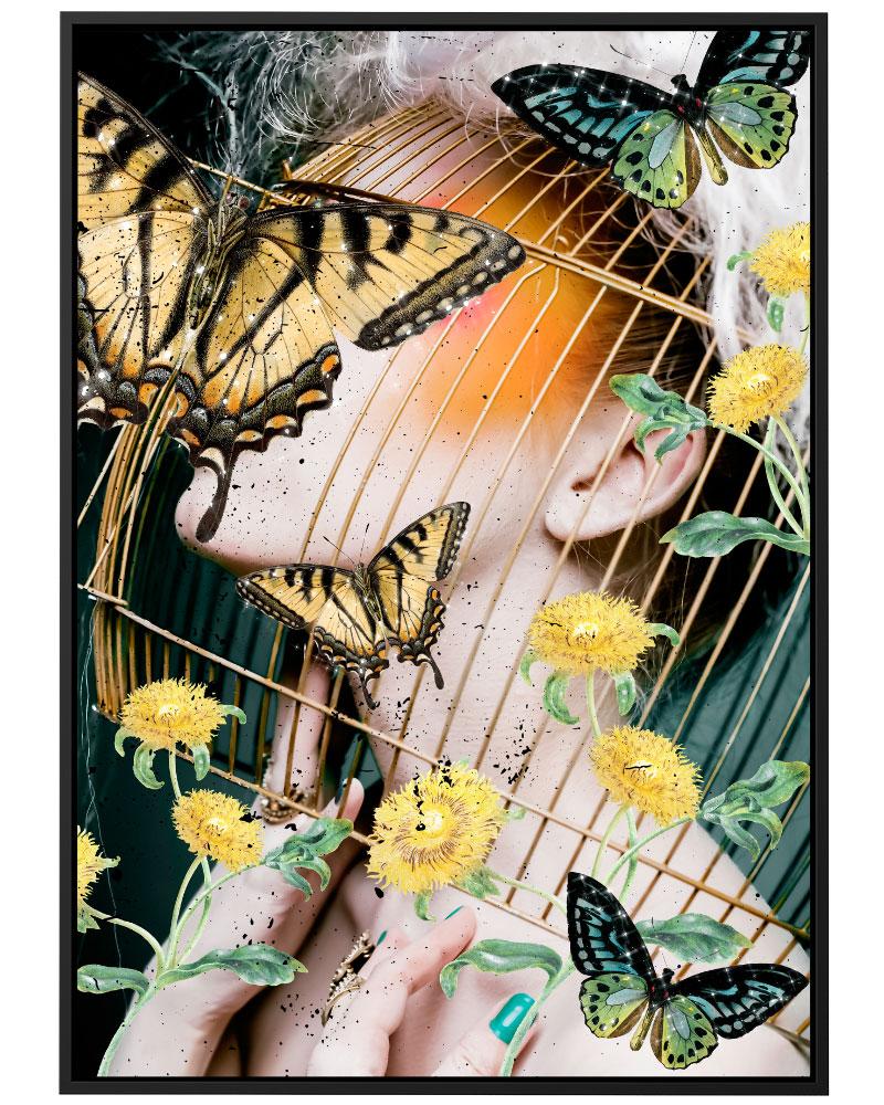 Quadro Yellow Garden - Collage