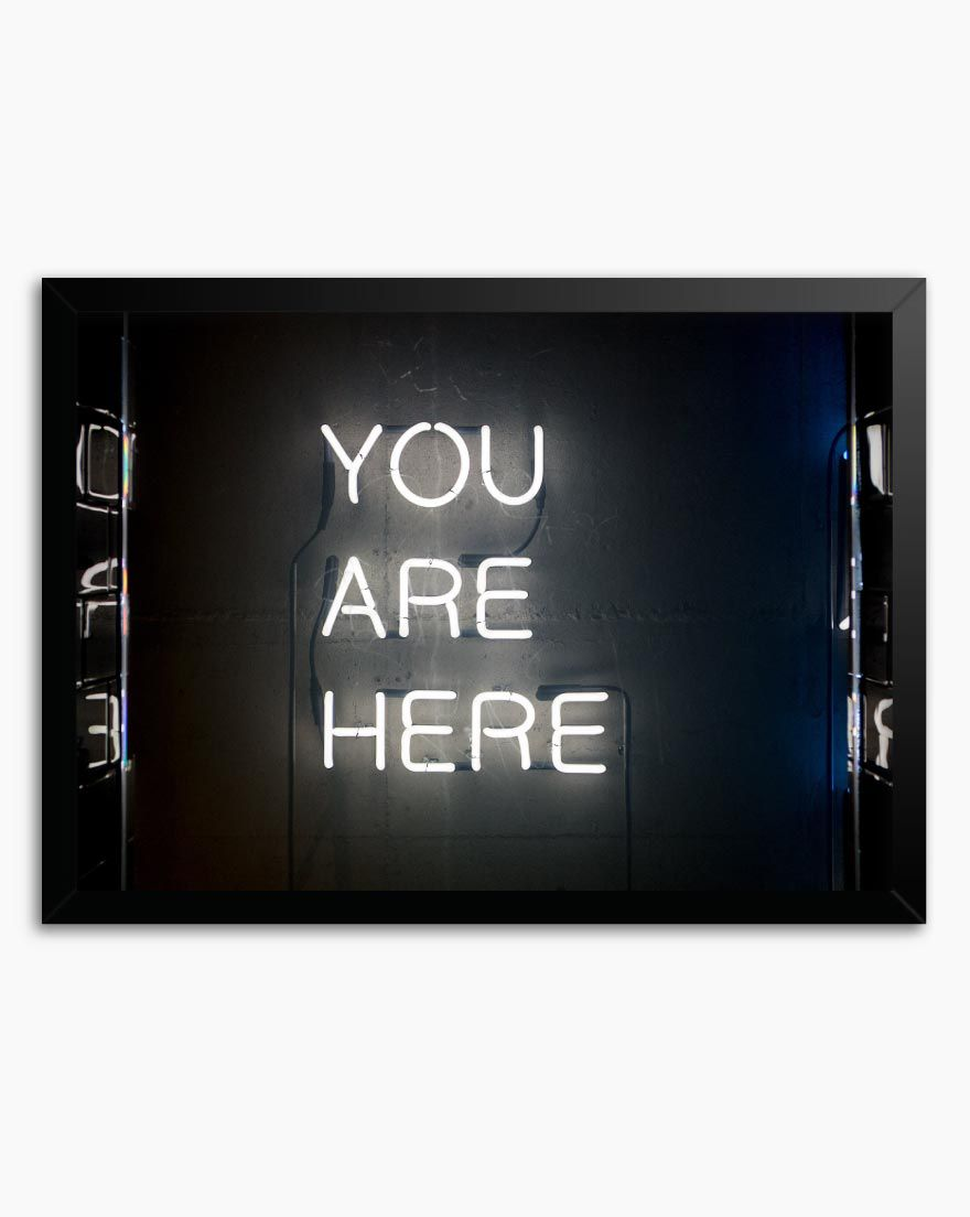 Quadro You Are Here - Horizontal