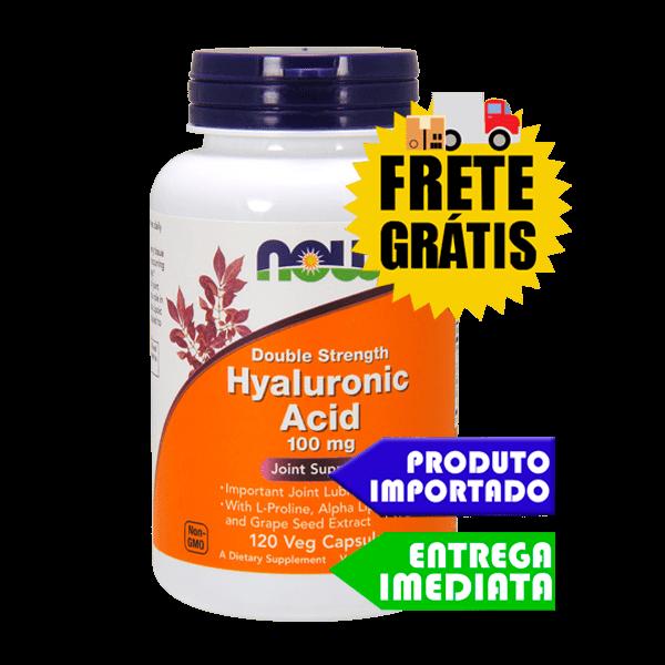 Acido Hialuronico 100mg - Now Foods (120 cápsulas)