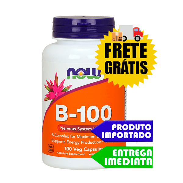 B-100 - Now Foods (100 cápsulas)
