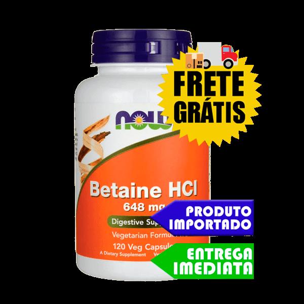 Cloridrato de Betaína HCL - Now Foods (120 cápsulas)