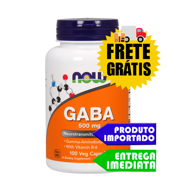 GABA 500 mg - Now Foods (100 cáps)