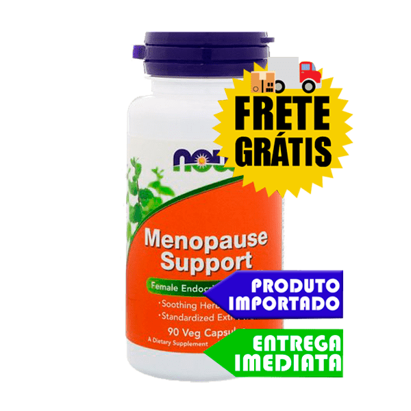 Menopausa Suporte 90 caps - NOW Foods | Remedio e Tratamento natural