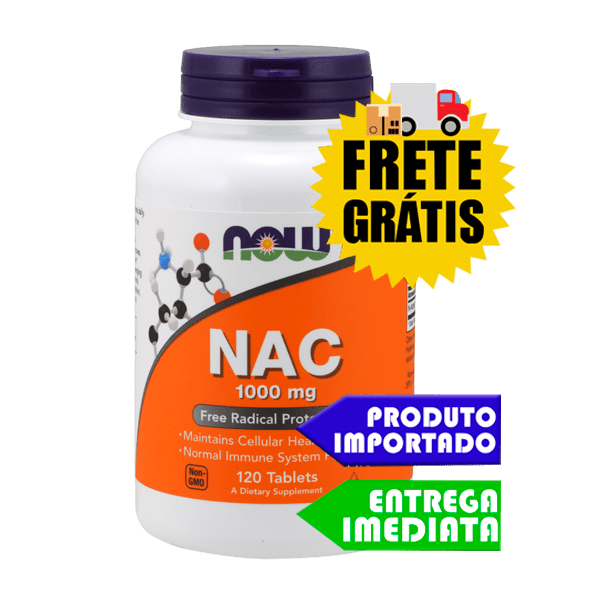 N-Acetilcisteína (NAC) 1000mg Now Foods - 120 tabletes