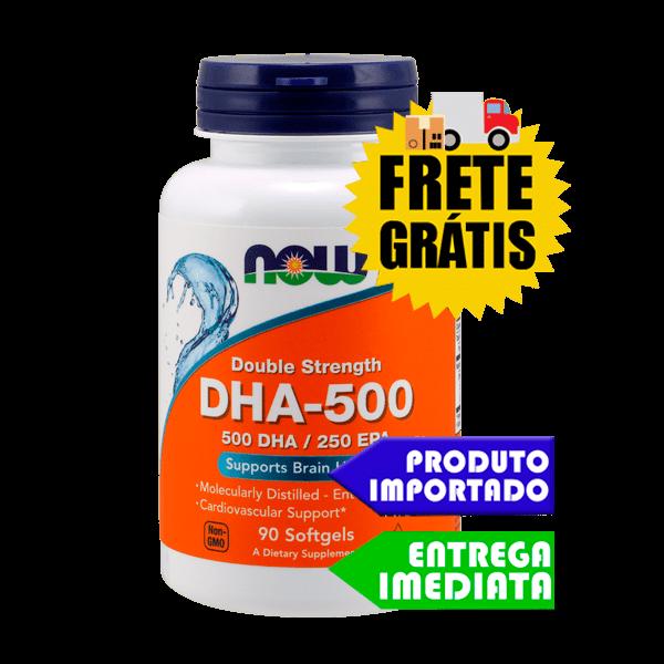 Ômega 3 DHA 500 EPA 250 Now (90 capsulas)