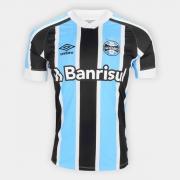 Camisa Grêmio Umbro 21/22 s/n° Torcedor Masculina Azul e Branco.