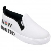 Tênis Infantil Pampili Slip On Feminino Luna Now United Branco - 435.192