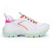 Tênis Tanara Chunky Sneaker Feminino Colorful Branco - T4209