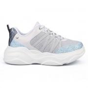 Tênis Tanara Sneaker Glitter Azul - T4186