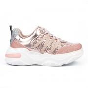 Tênis Tanara Sneaker Glitter Rose Gold - T4186