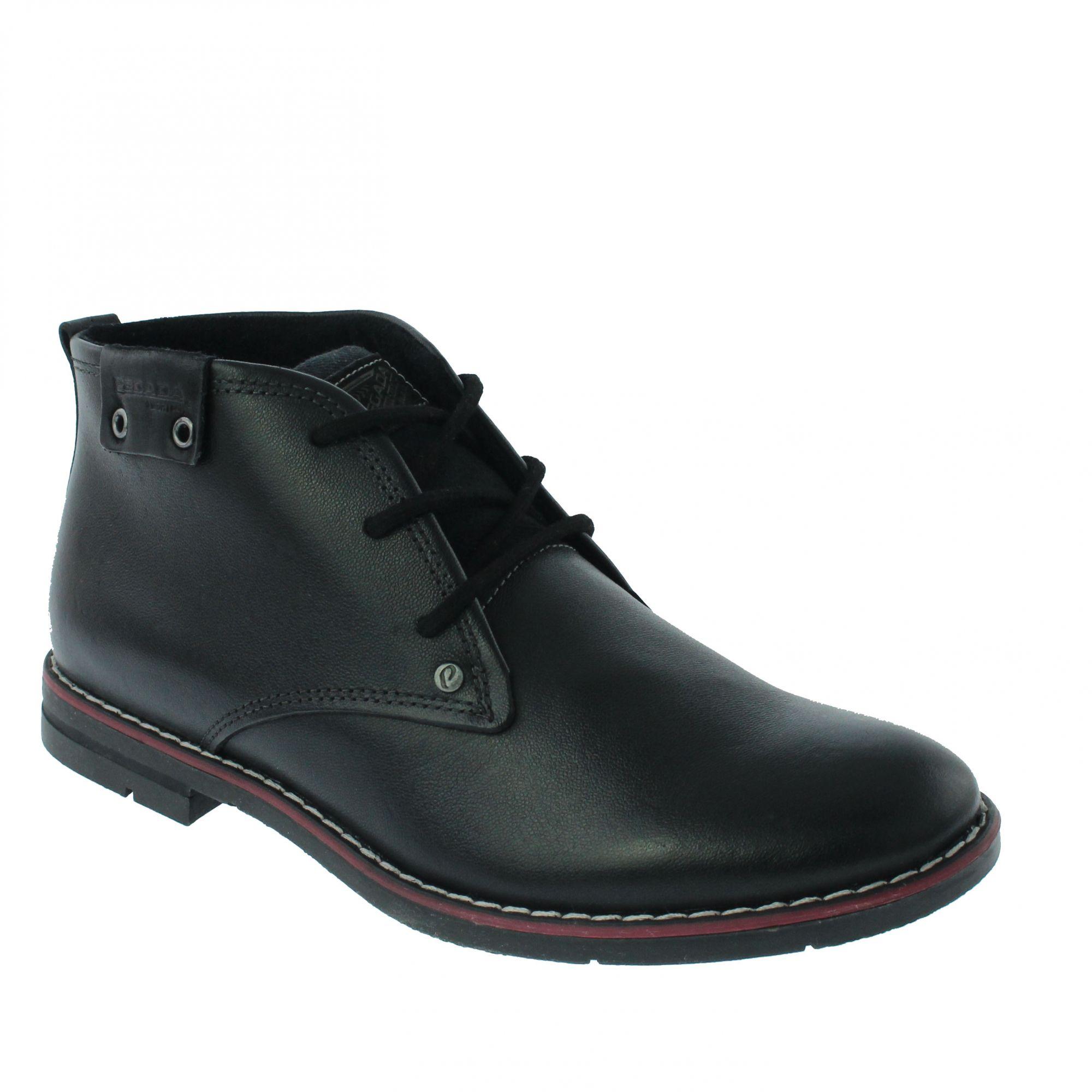 Sapato Pegada Social Couro Preto Amortech - 121976-10