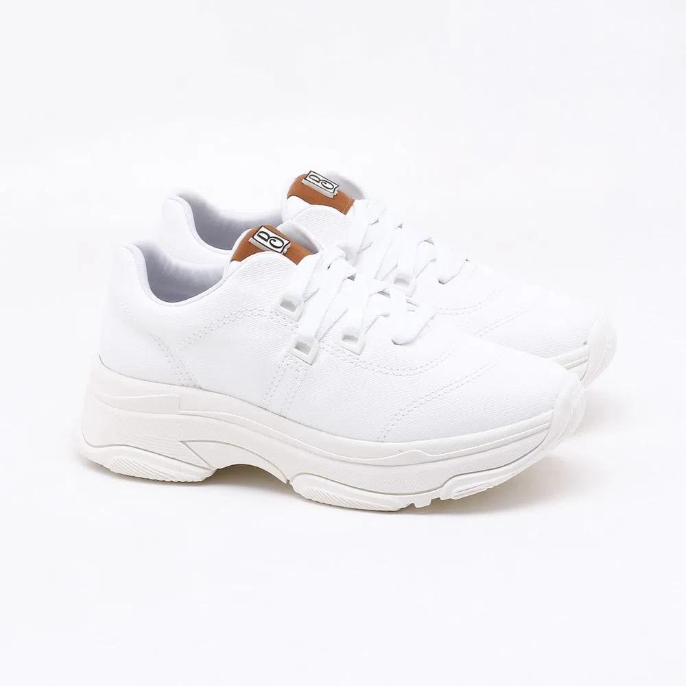 Tênis Bebecê Sneaker Feminino Casual Branco - T1319-445