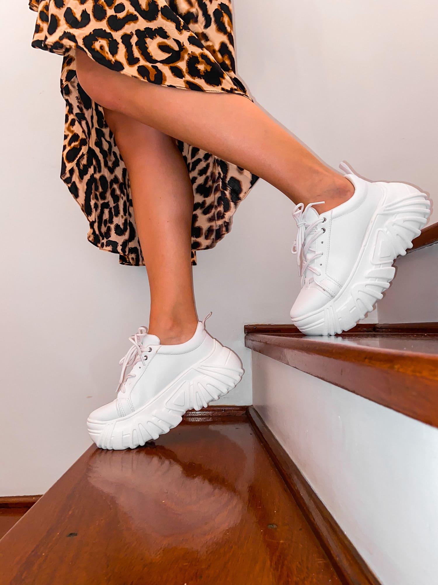 Tênis Buffalo Velace Plataforma Chunky Sneaker Feminino Branco - 3479.107