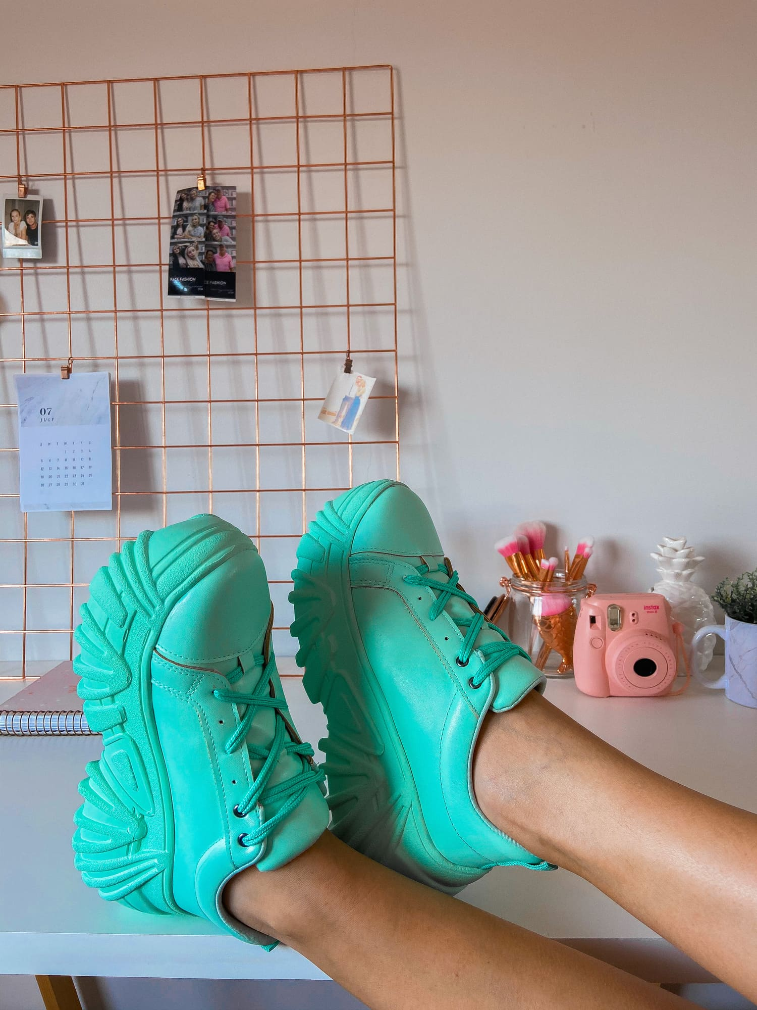 Tênis Buffalo Velace Plataforma Chunky Sneaker Feminino Verde Água - 3479.107