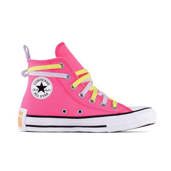 Tênis Converse Chuck Taylor All Star HI Rosa Fluor - CT13320001