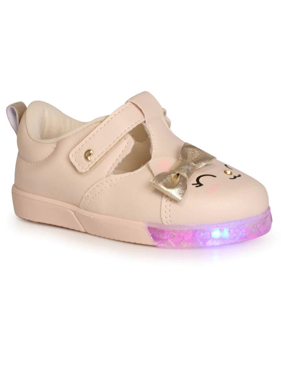 Tênis Pampili Baby Fun Rosa Balé com LED - 471.026
