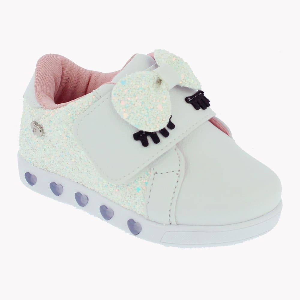 Tênis Pampili Infantil com LED Glitter Sneaker - 165.112