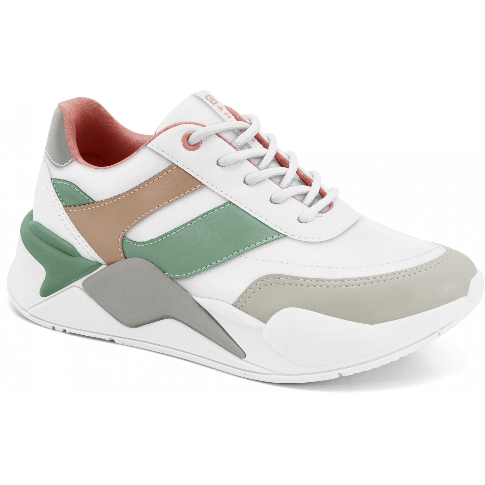 Tênis Ramarim Sneaker Feminino Branco/Salmão - 20-72203