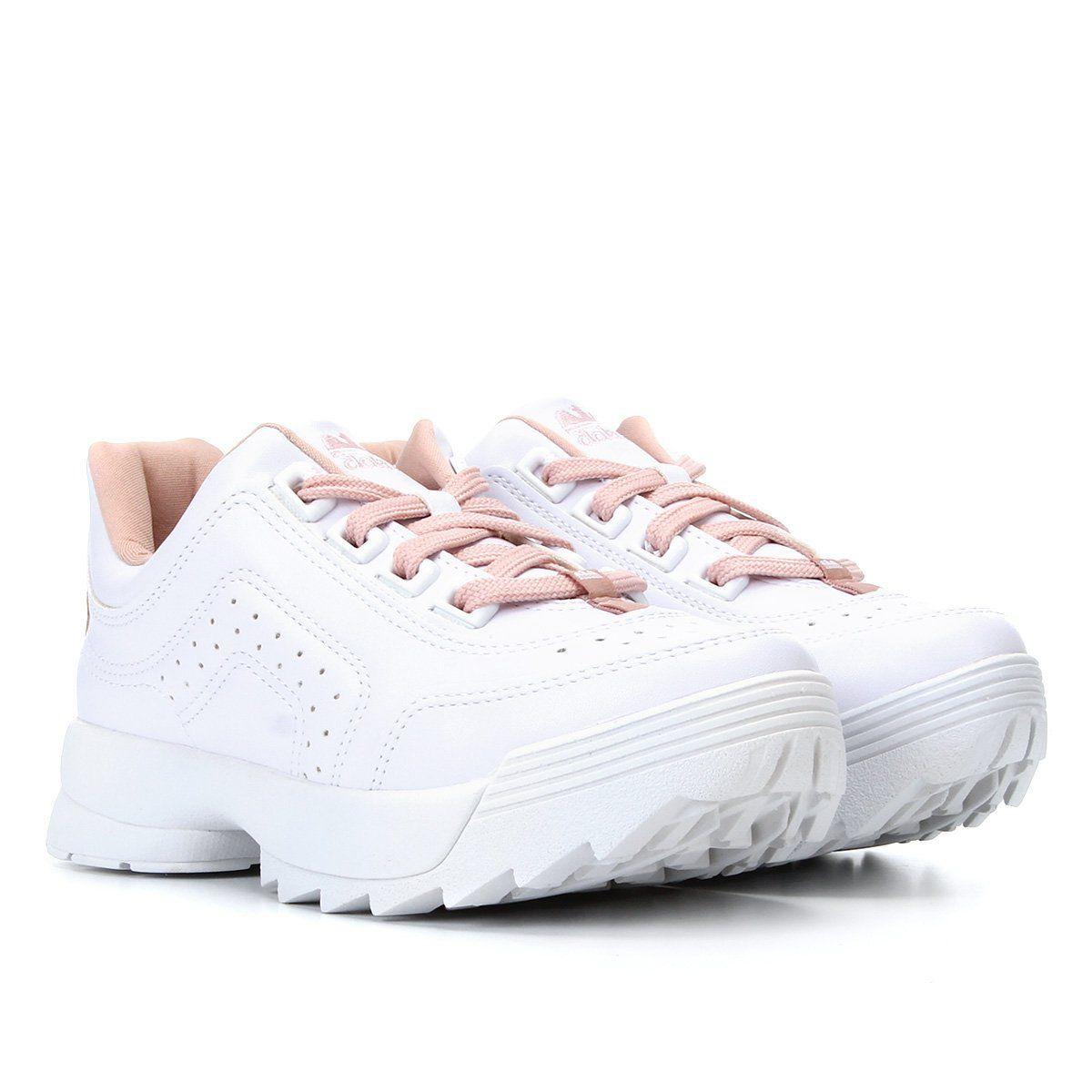 Tênis Sneaker Dakota Feminino Branco / Quartz - G0989