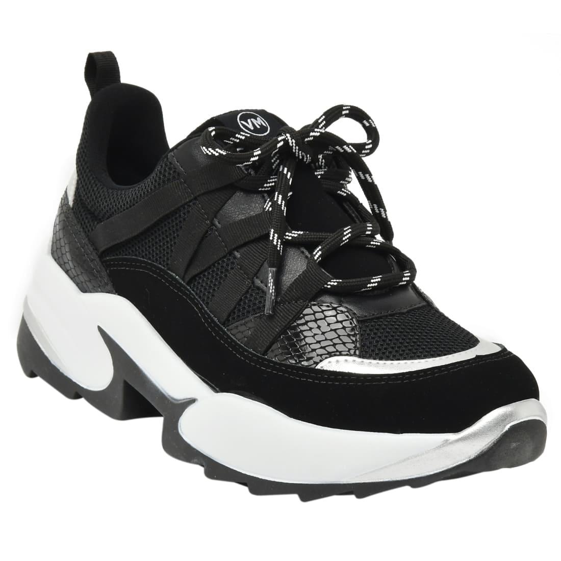 Tênis Sneaker Via Marte Preto/Cinza - 20-4002