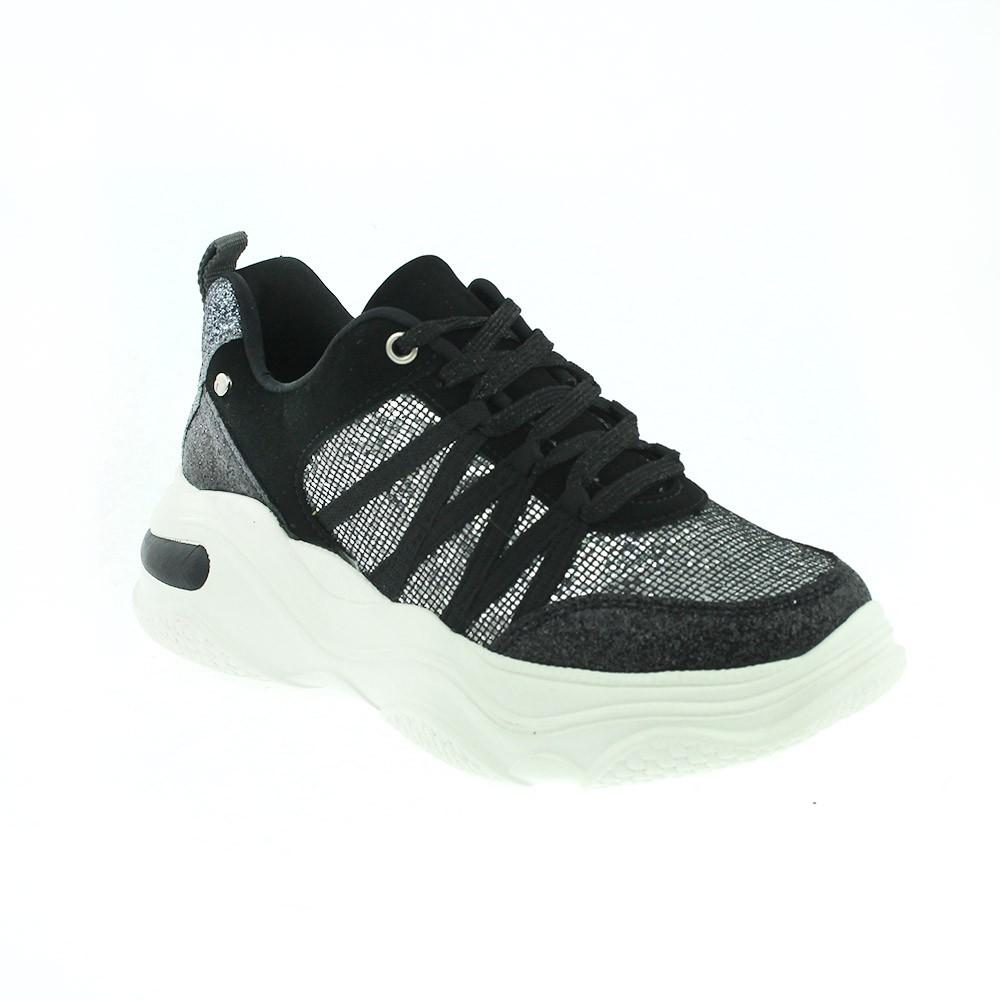 Tênis Tanara Sneaker Glitter Preto - T4186