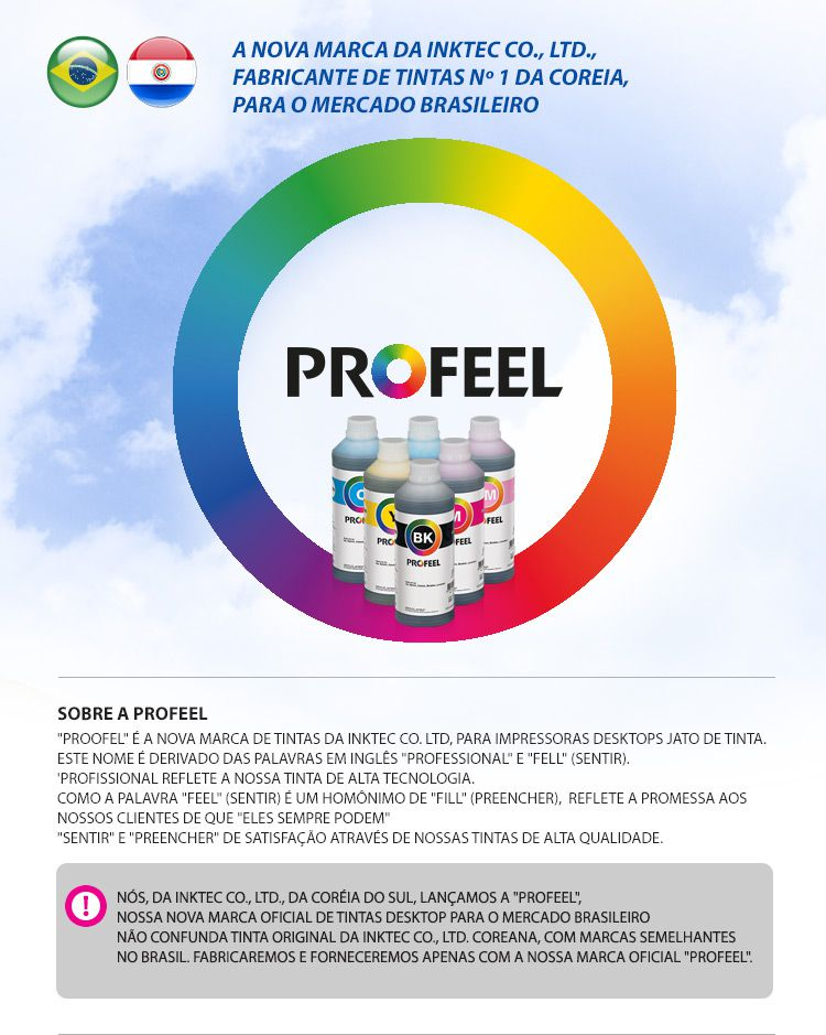 E0014 100ml Corante Cyan Light Profeel Premium InkTec
