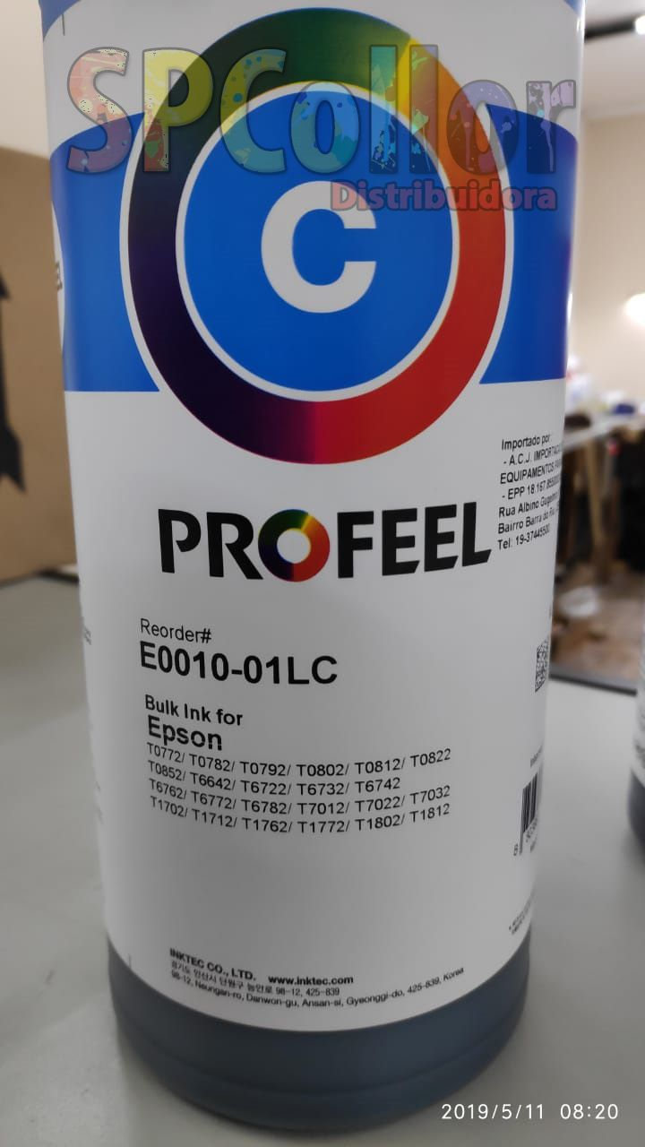E0010 Corante Cyan Inktec Profeel - Litro