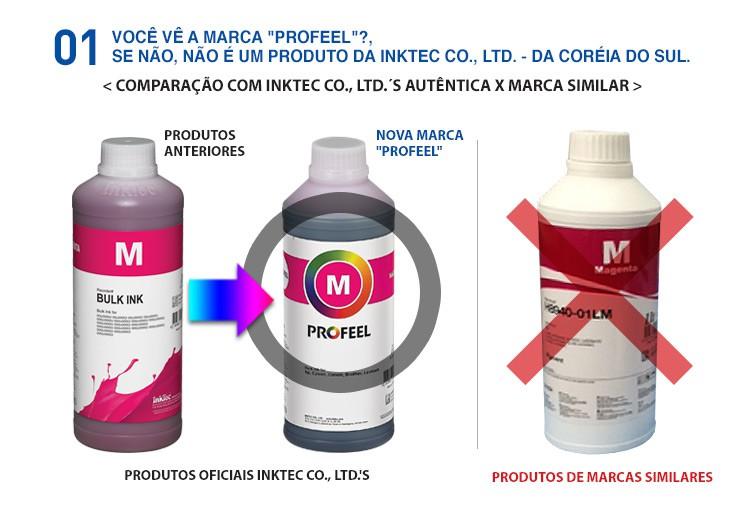 E0015 100ml Pigmentada Black Profeel InkTec - Frasco Oficial