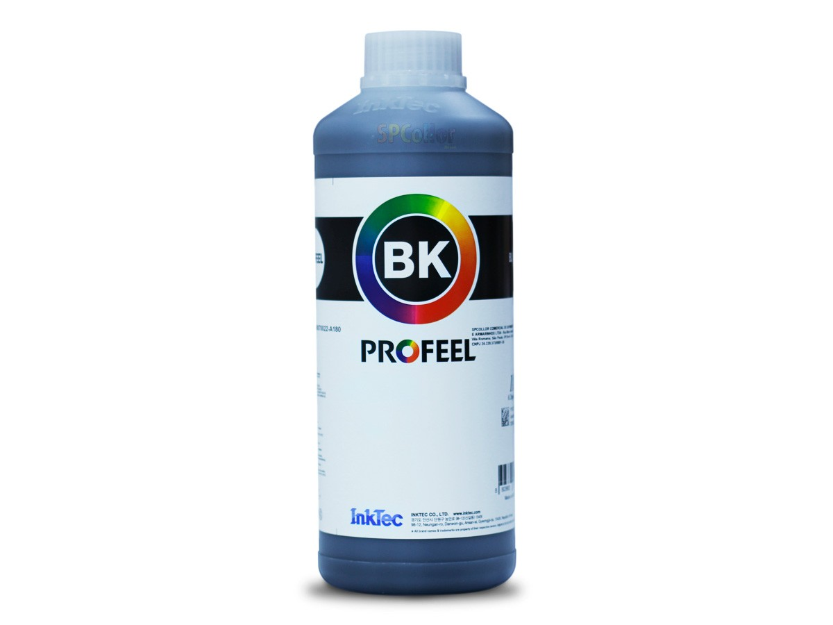 E0015 Litro Pigmentada Black Profeel InkTec - Frasco Oficial