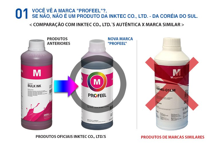 H8950 100ml Corante HP Black Profeel InkTec