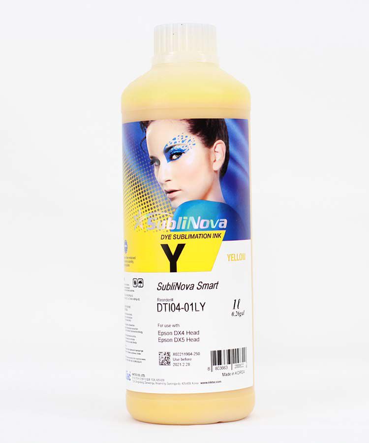 Litro Inktec Sublimática Yellow Sublinova DTI