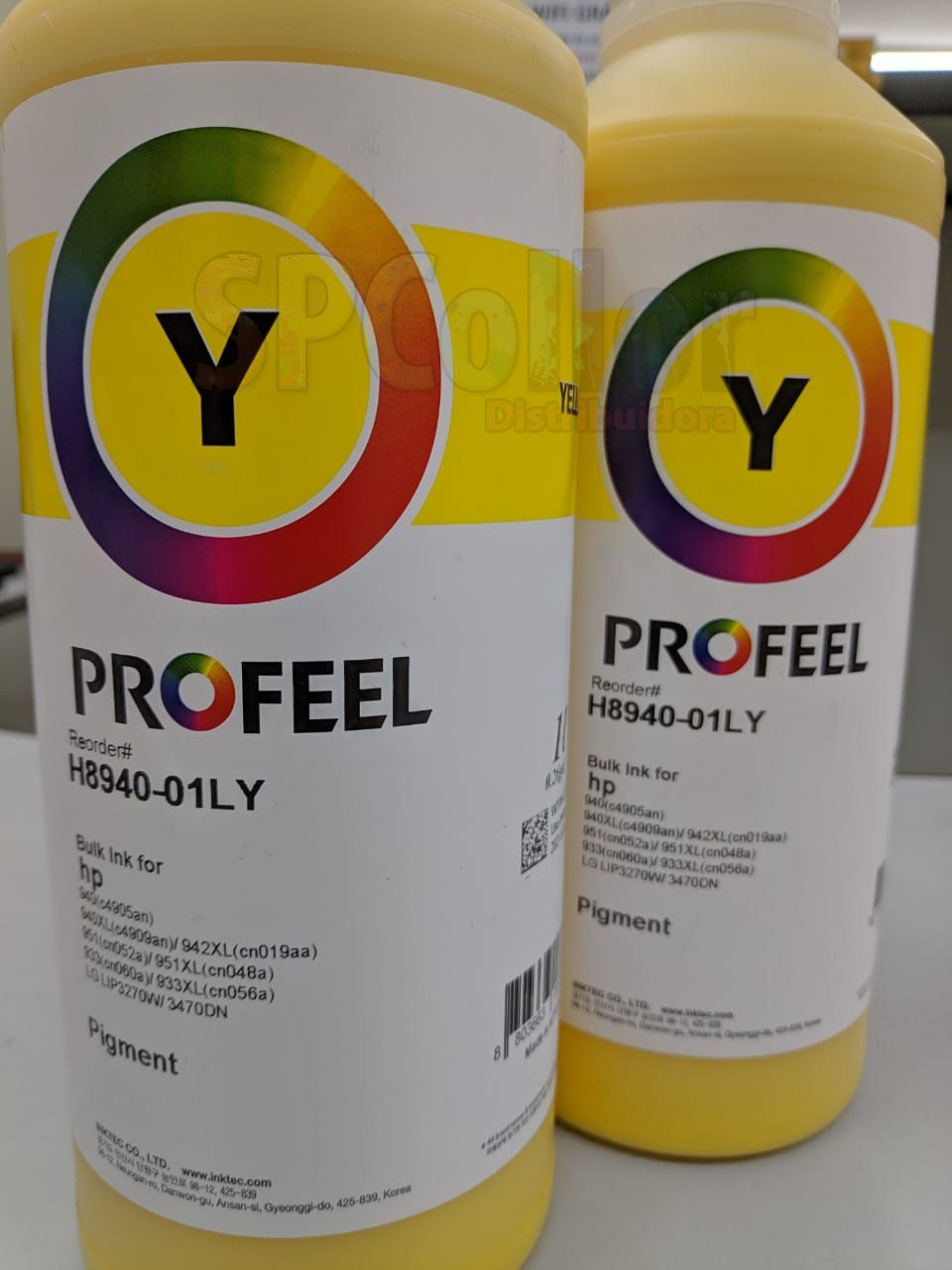 H8940 Tinta HP Pigmentada Yellow Inktec Profeel