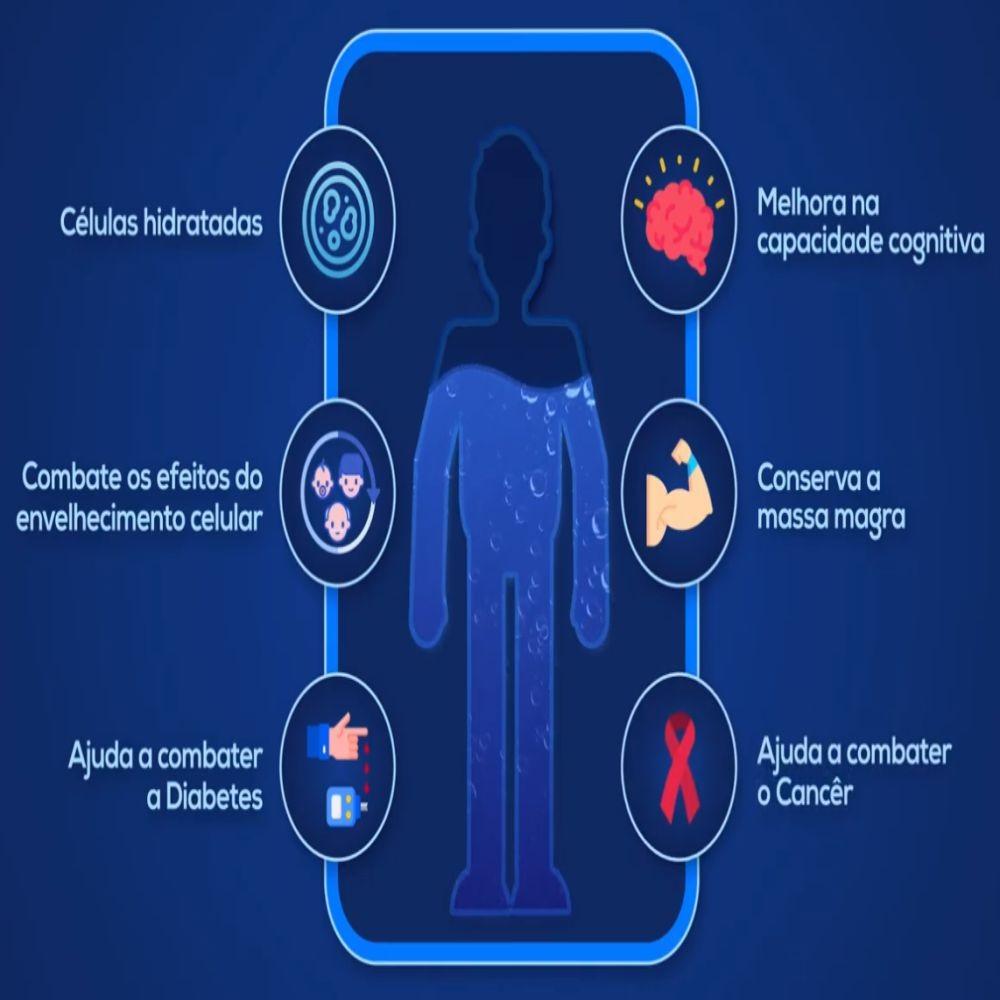 Filtro alcalino e ozônio Top Life Blue Heoxi - Purificador Natural Vermelho 110/220v