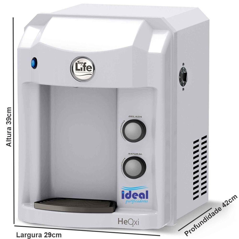 Filtro Alcalino Ionizado Ozônio Top Life Branco 110v/220V Com Indicador de PH