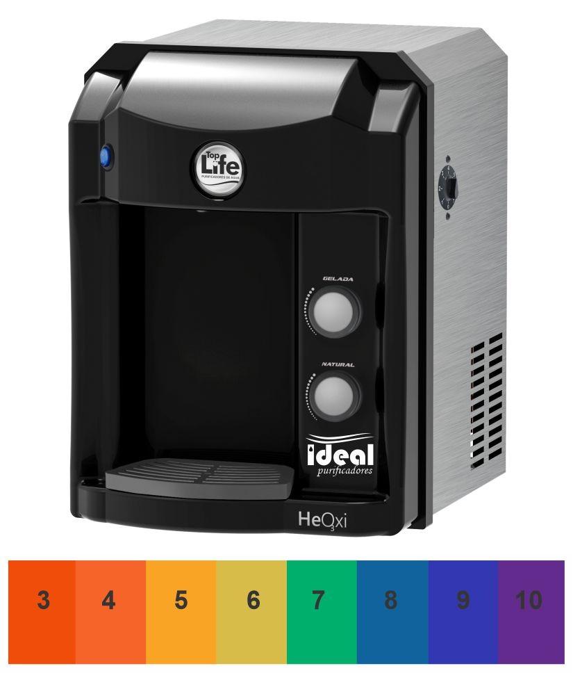 Filtro Alcalino Ionizado Ozônio Top Life Preto 110v/220V Com Indicador de PH