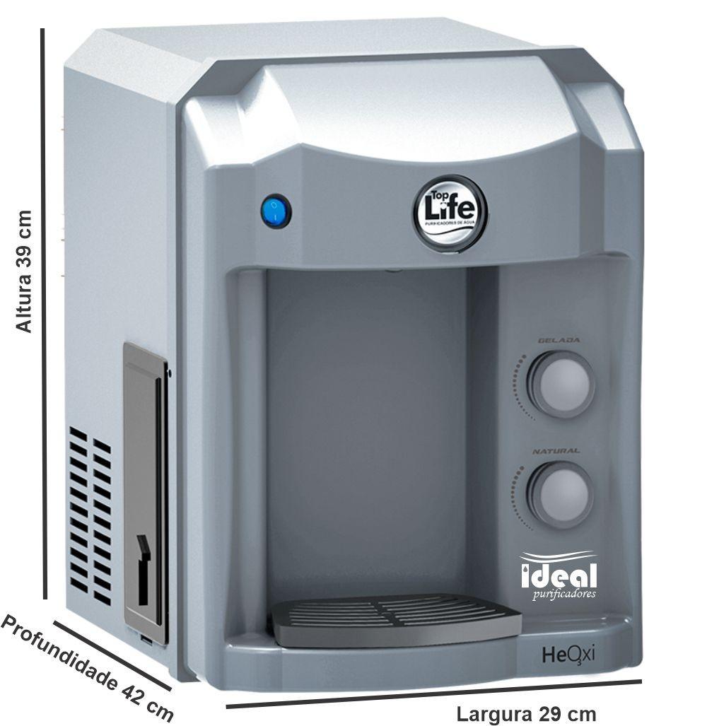 Purificador Água Alcalina E Ozônio Cor Prata Compressor 127v/220v