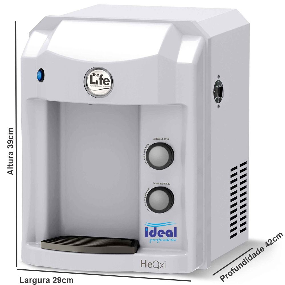 Purificador Agua Super Alcalina Ionizada C/ Ozonio Branco Com Indicador de PH