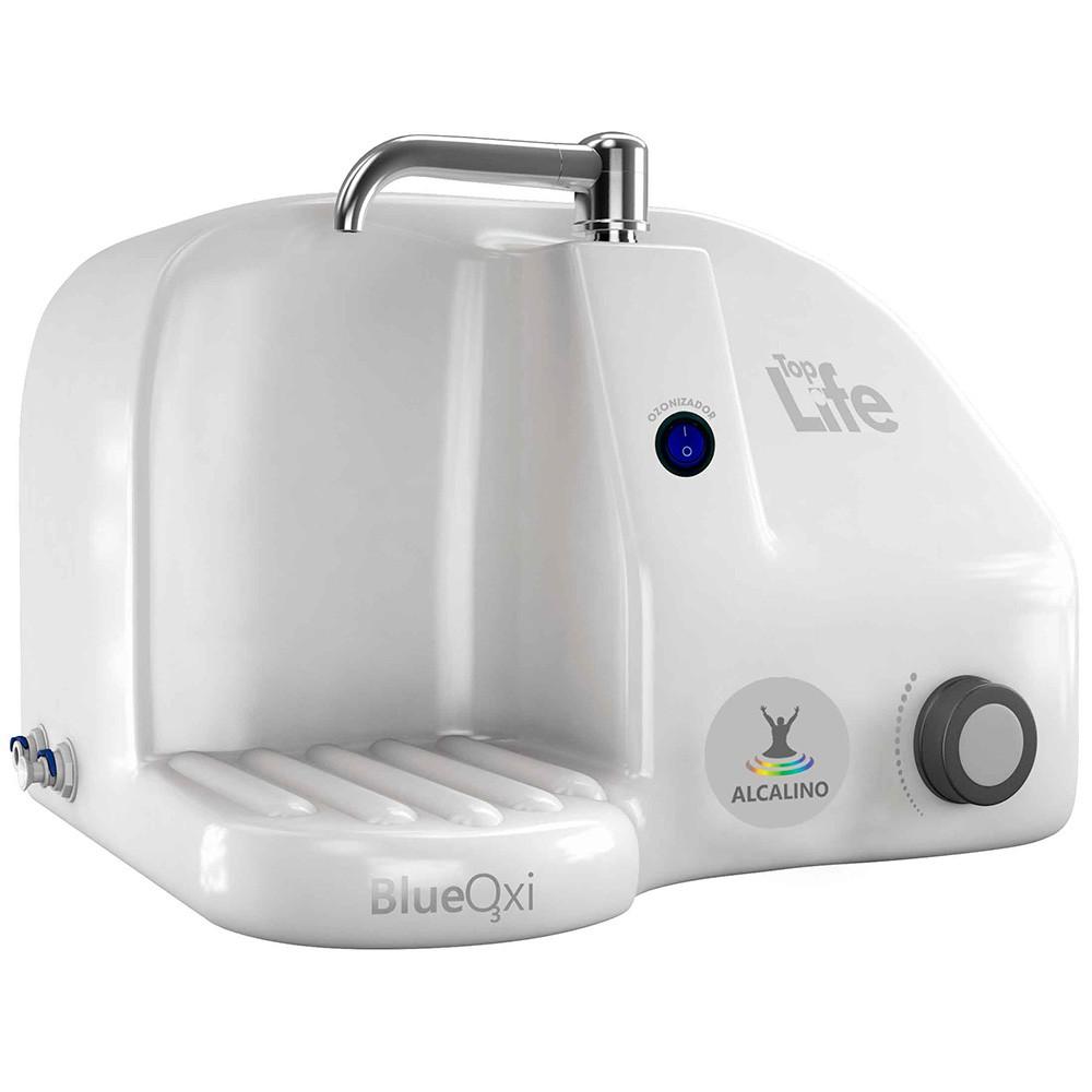 Purificador de água alcalina ionizada com ozônio Top Life Blue Heoxi Natural Branco 110v/220v